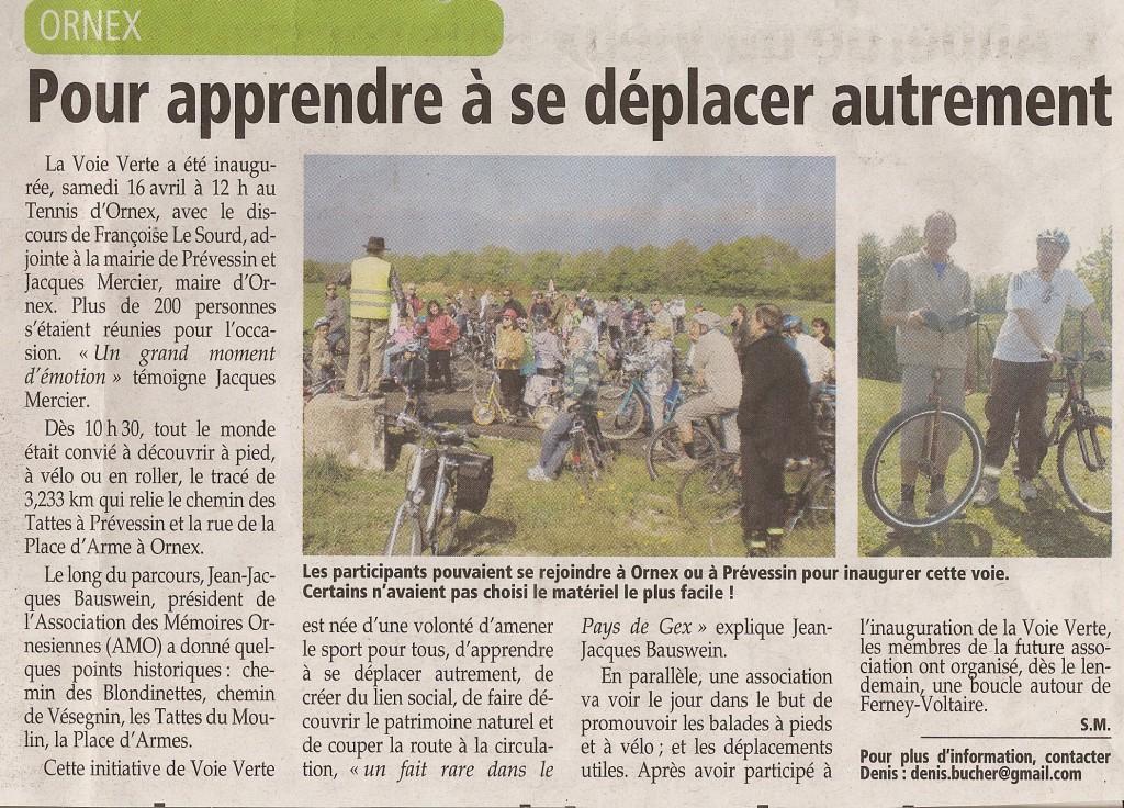 Le Pays Gessien 22 avril 2011