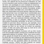 Article dans le magasine de Ornex d'octobre 2011
