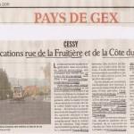 Cessy: aménagements pour piétons et cyclistes