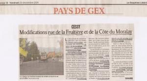 Dauphiné Libéré 23 décembre 2011