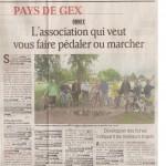 Article dans le Dauphiné Libéré du 29 décembre 2011