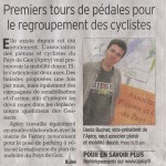 Article dans le Dauphiné Libéré du 5 septembre 2011