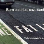 Affiche anglaise: fast lane, fat lane