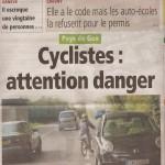 Article dans le Pays Gessien du 9 août 2012