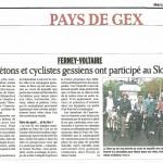 Article dans le Dauphiné Libéré du 8 août 2012