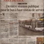 Article BHNS dans le dauphiné du 17 septembre
