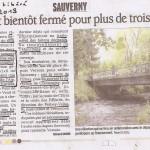 Sauvergny: le pont fermé sauf pour les vélos et les piétons