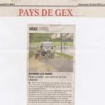 Le Dauphiné Libéré donne des nouvelles de l'avancement de la piste cyclable à Divonne