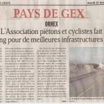 Article sur l'association dans le Dauphiné Libéré