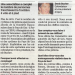 Article sur notre comptage dans la Tribune de Genève