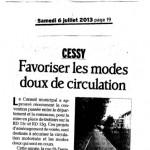 Cessy: de nouveaux aménagements prévus pour les piétons (article du Dauphiné)