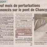 Pont de Chancy fermé pour les autos, mais passerelle piétons-cycles mise en place