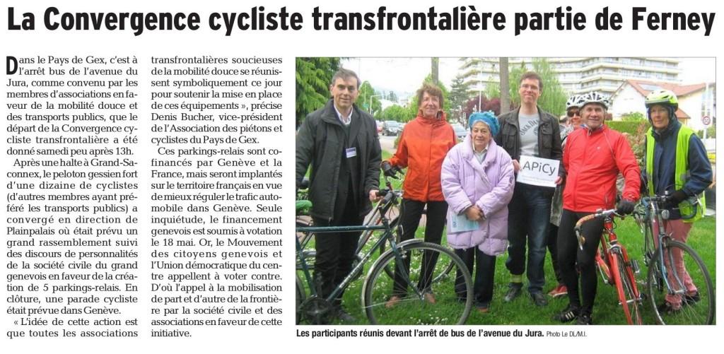 Article du Dauphiné Libéré du 5 mai, page 11