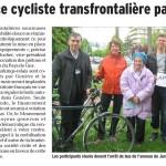 Article du Dauphiné Libéré sur notre participation à la convergence cycliste