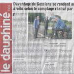 Un article sur notre comptage dans le Dauphiné libéré du 10 juin