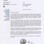 Réponse de la CCPGà notre courrier du 6 juin (suite accident mortel)