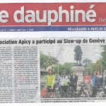 Notre balade du 3 août: article dans le Dauphiné