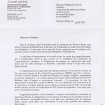 Réponse du conseil général à notre courrier du 6 juin (suite accident mortel)
