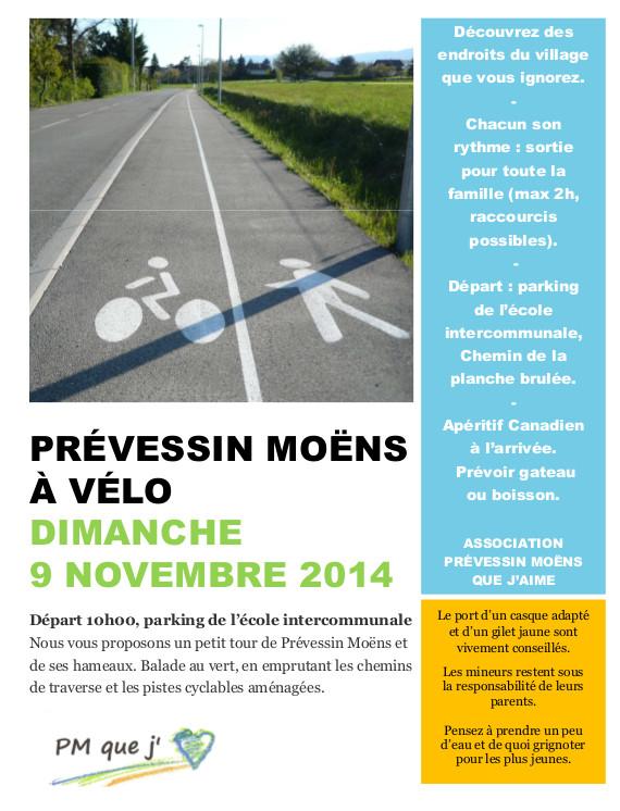 Balade vélo à Prévessin par l'association «PM que j'aime»