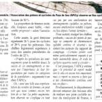 Un article sur notre comptage dans «Le Pays Gessien»
