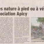 Un article sur notre balade dans le Dauphiné libéré