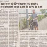 Article sur APiCy dans le Dauphiné du 12 août