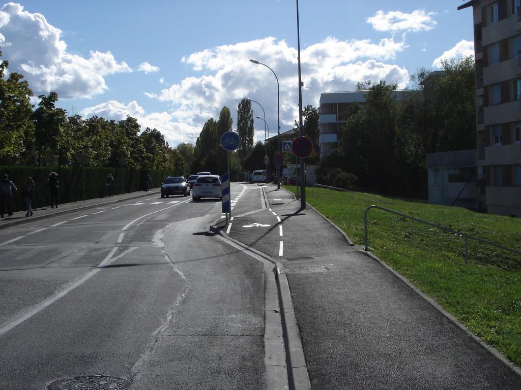 La chicane et le by-pass vélo