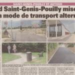 Un article dans «Le Pays Gessien» sur les aménagements pour vélos et piétons à Saint-Genis-Pouilly