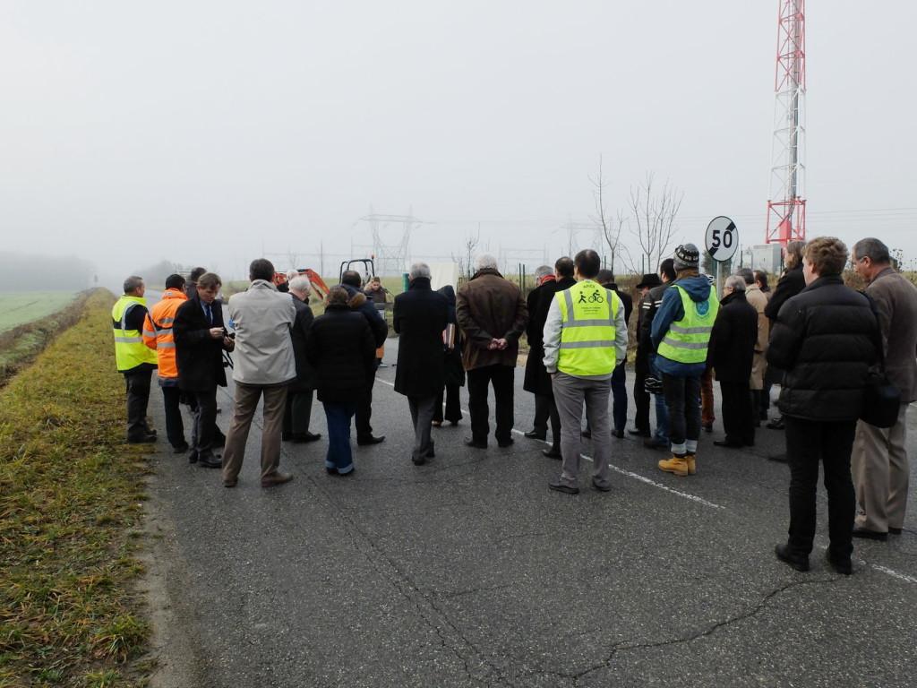 Cérémonie de lancement des travaux de la piste cyclable route de