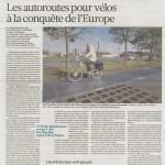 Un article sur les autoroutes pour vélo en Europe
