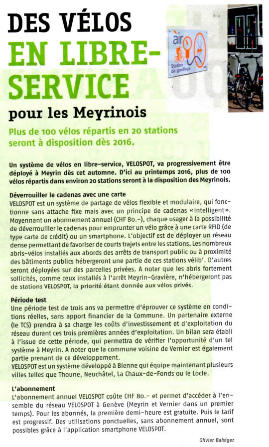 Vélos à Meyrin
