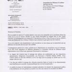 Réponse de la mairie de Gex à notre demande de conserver la rue de Genève en double sens cyclable