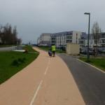 Piste cyclable à Saint-Genis-Pouilly