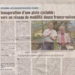 Inauguration de la voie verte Divonne-Crassier