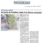 Douane de Meyrin: un peu plus de sécurité pour les piétons et cyclistes