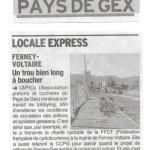 Article dans le Dauphiné sur nos récentes demandes aux autorités