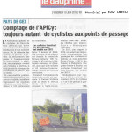 Un article sur notre dernier comptage dans le Dauphiné