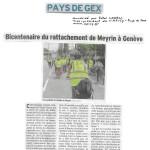 Un article dans le Dauphiné sur la balade transfrontalière du 28 mai