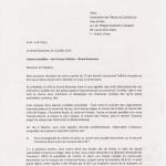 Réponse de la mairie du Grand-Saconnex