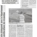 Un article dans le Dauphiné sur notre rencontre avec le département
