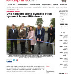 Inauguration de la piste cyclable route de l'Europe à Prévessin-Moëns