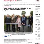 Inauguration de la piste cyclable route de l'Europe à Prévessin-Moëns