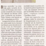 Un autre article sur l'inauguration de la piste cyclable route de l'Europe à Prévessin