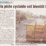 Des nouvelles de la piste cyclable entre Grilly et Divonne