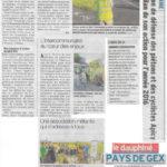 Un long article sur APiCy dans le Dauphiné libéré du 29 décembre