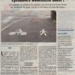Un article du Gessien de fin juin fait le point sur les aménagements cyclables à Gex