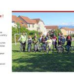 Sortie vélo avec les membres du conseil municipal des jeunes de Prévessin-Moëns