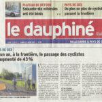 Avec quelques mois de retard, un article du Dauphiné sur les résultats de notre comptage