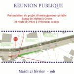 Réunion publique à Prévessin sur un projet d'aménagement cyclable