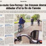 Des nouvelles de la véloroute Gex –Ferney